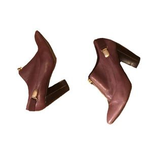 Saks Fifth Ave. Mauve Suspender ankle Booties 8M
